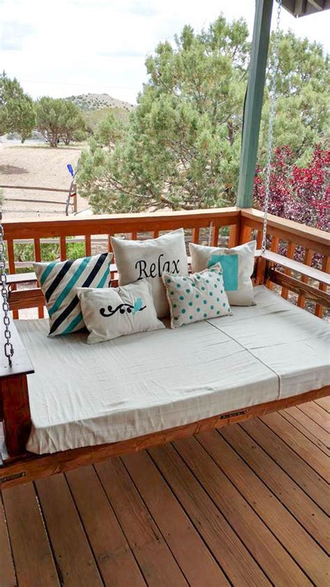 diy porch swing diy front porch swing projects the budget decorator