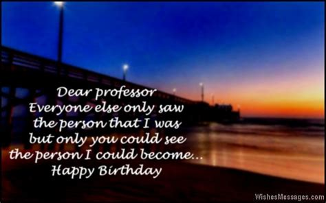 Happy Birthday Wishes To Professor Inspirational Quotes For Professors Quotesgram