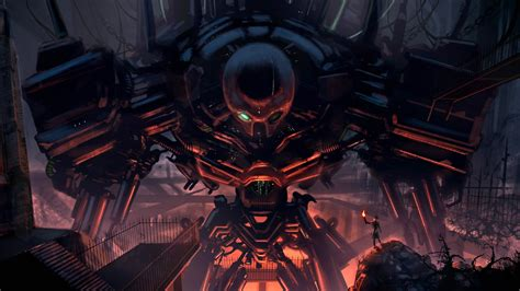 wallpaper abyss sci fi robot full hd wallpaper and background image 2560x1440