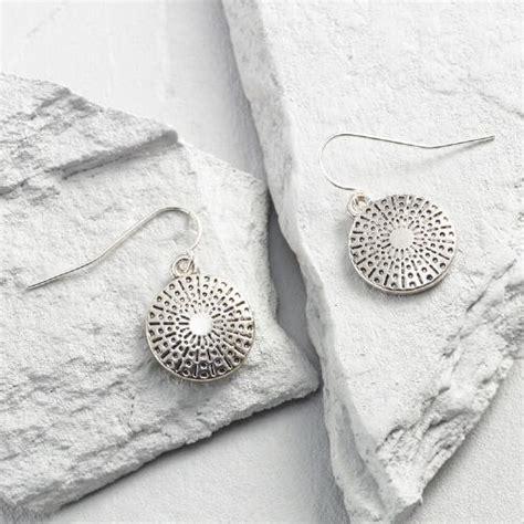 Sand Dollar Earring silver sand dollar drop earrings world market