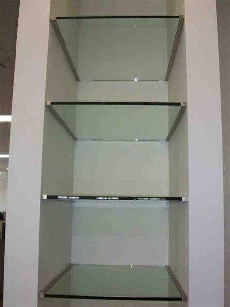custom cut glass shelves decor ideas