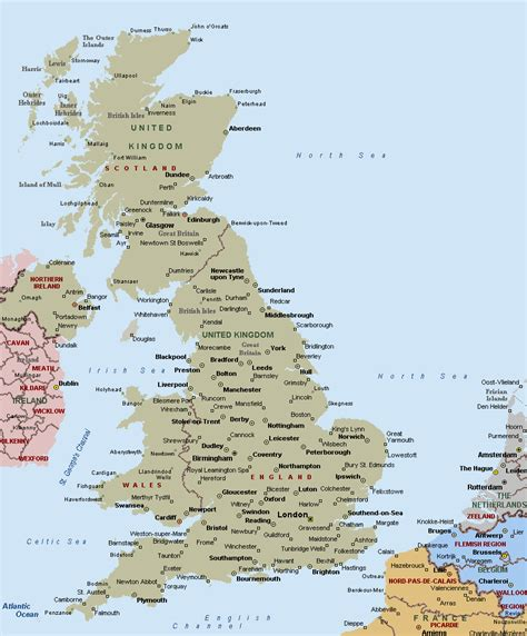 map of the united kingdom with major cities united kingdom political map romania maps and views