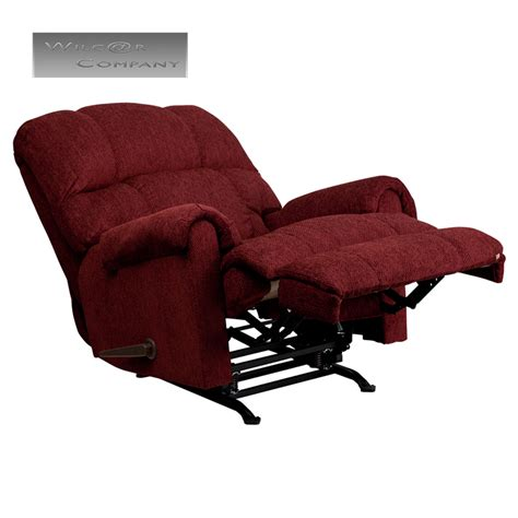Lazy Boy Chair Recliner by Burgundy Fabric Rocker Recliner Lazy Chair Furniture