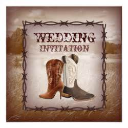 cowboy boots western country wedding invitation 5 25 quot square invitation card zazzle