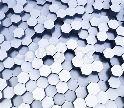How To Make A 3d Hexagon Out Of Paper - abstract hexagonal cubes background 3d rendering stock