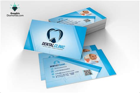 dentist business card template clinic business card templates free premium templates