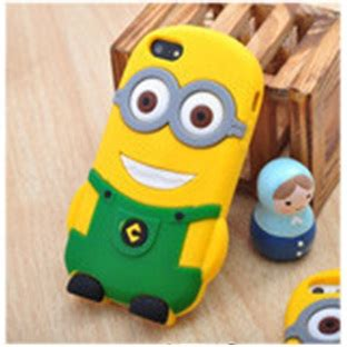 Casing Hp Iphone 4 4s Despicable Me Minion One Direction Custom Hardca minion despicable me tpu for iphone 4 4s green