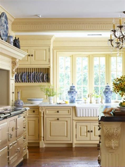 blue and yellow kitchen home decorating news guest post from design shuffle