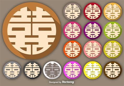 vector double happiness symbol buttons   vectors clipart graphics vector art