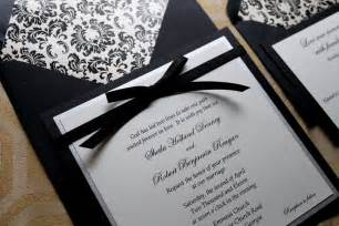 black and white invitations black and white wedding invitations lilbibby