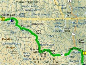 day 6 watson lake to ft nelson columbia hawg