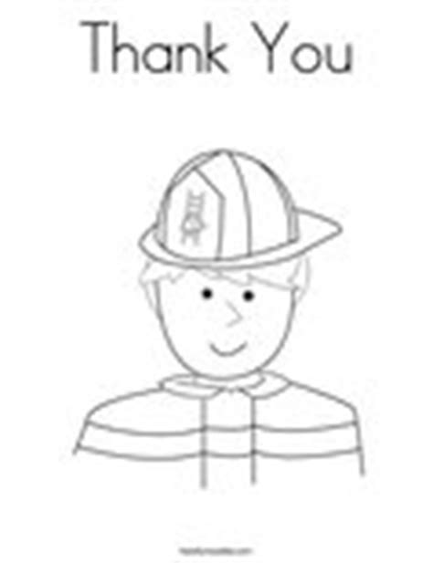 thank you firefighters coloring page thank you coloring page twisty noodle