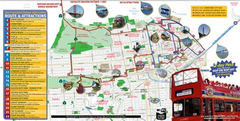 san francisco map travel map of san francisco tourist attractions michigan map