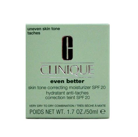 clinique even better spf 20 clinique even better skin tone correcting moisturizer spf