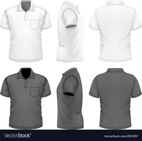 Mens Polo Shirt Design Template Royalty Free Vector Image Polo Shirt Design Template