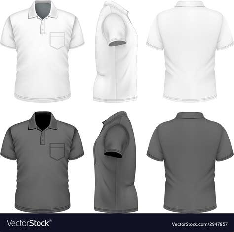 Mens Polo Shirt Design Template Royalty Free Vector Image Polo Shirt Template