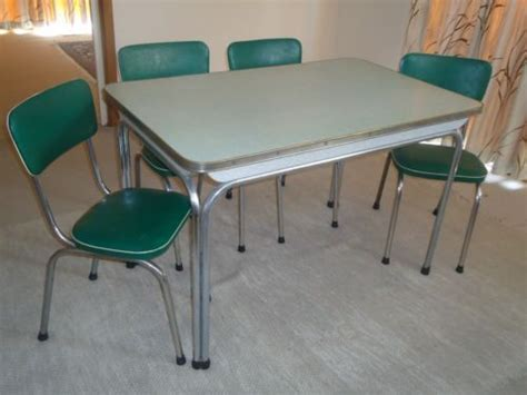 1950s retro laminex and chrome kitchen table chairs
