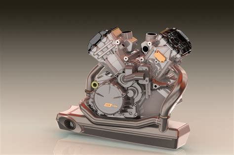 Ktm Rc8 Engine Ktm Rc8 Engine 3d Cad Model Grabcad