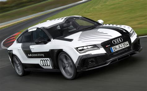 can the audi rs7 driverless car beat a human driver around
