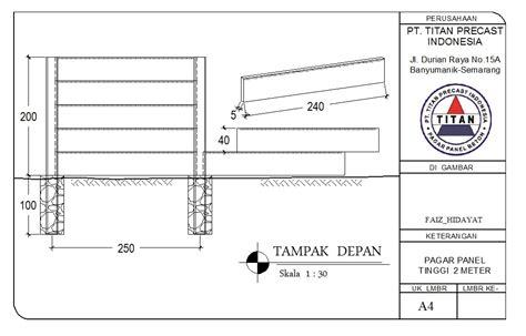 Panel Pagar pagar panel terbaik disemarang pagar panel precast