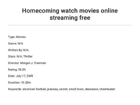 homecoming  movies