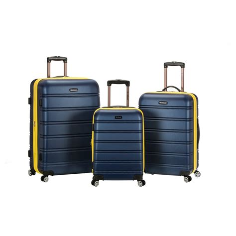 The Ultimate Cq Suitcase The Results by Rockland Melbourne 3pc Abs Luggage Set Navy Blue