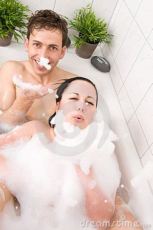 fun in the bathtub couple in bathtub royalty free stock image image 12321436