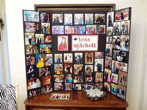 picture board ideas photo memory board display that i made for tess s graduation party i also placed some of her