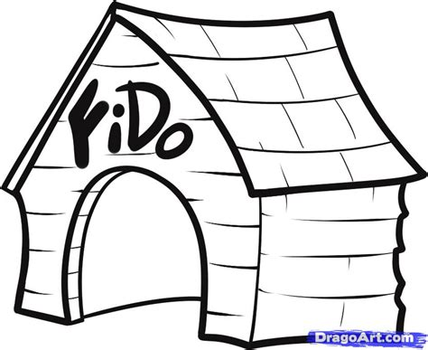 dog house drawings how to draw a dog house step by step buildings landmarks places free online