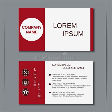 Business Card Sticker Template by Modern Business Visiting Card Vector Template Stock Vector