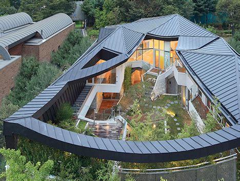 house features modern secret garden house features private courtyard