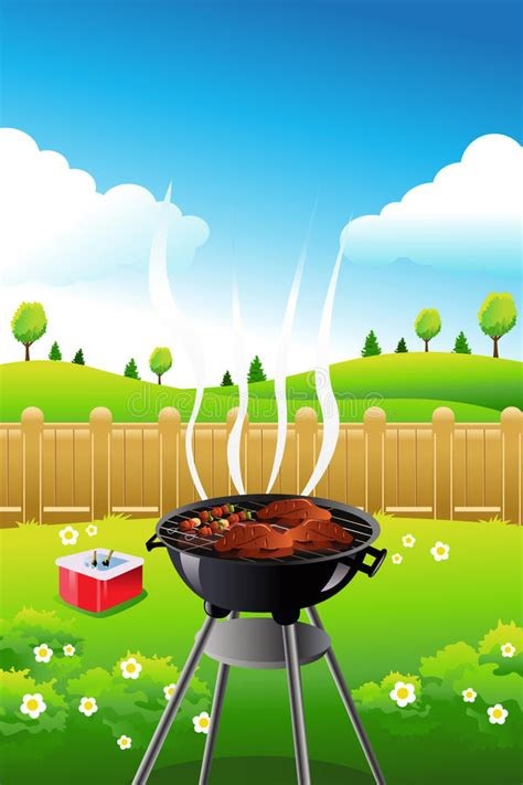 barbeque party poster stock vector illustration