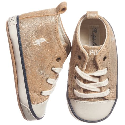 ralph gold pre walker high top trainers