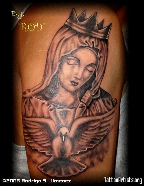 mama mary tattoo design blessed designs
