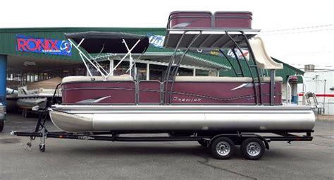 upper boat car dealers premier pontoon double deck boats for sale