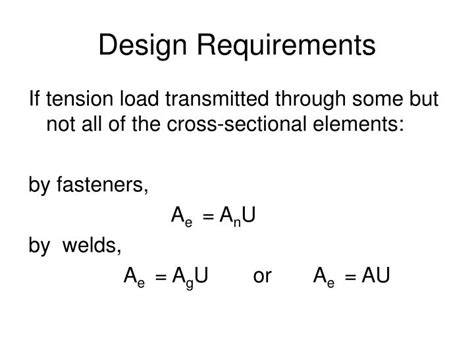 design load criteria ppt design of steel tension members powerpoint