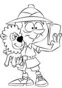 safari person coloring page people coloring pages free coloring pages
