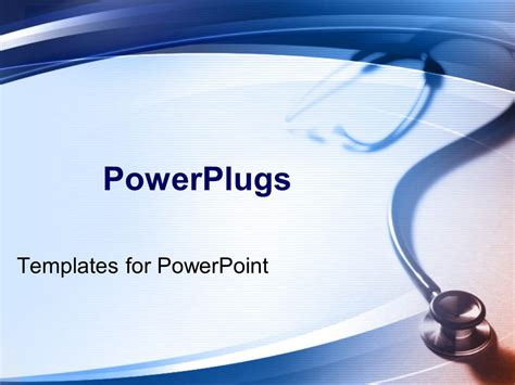 Powerpoint Template Simple Medical Theme With Stethoscope Powerplugs Powerpoint Templates