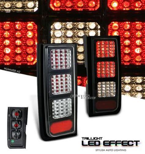 h2 led tail lights hummer h2 2003 2006 black led look tail lights