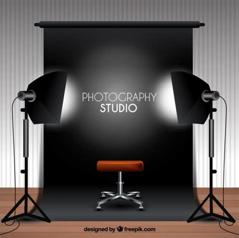 photography studio photography studio with black background vector free