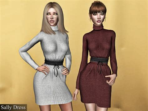 the sims resource sally dress with belt by genius666