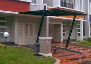 model kanopi teras depan rumah beserta estimasi harga