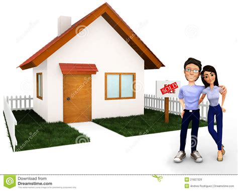buy a house for free couple buying a house royalty free stock images image 21827329