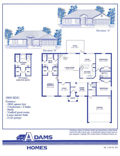 adams homes floor plans spring hill adams homes