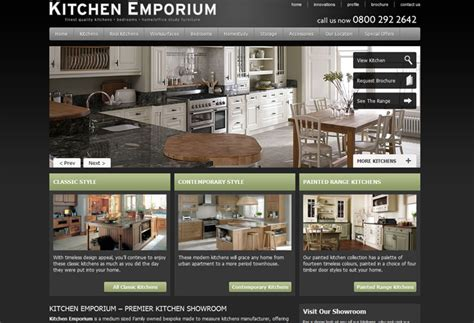 Kitchen Design Sites by Kitchen Emporium Website Design Webdesign Wigan