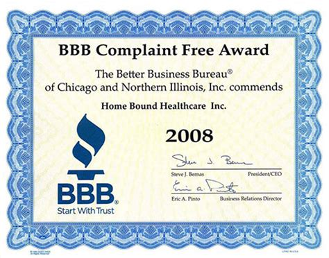 Complaint Letter Better Business Bureau Bbb
