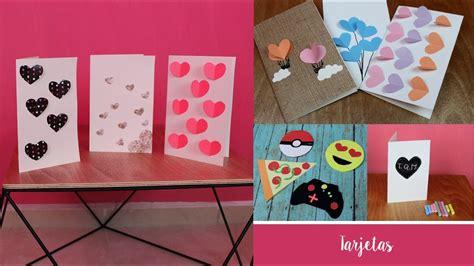 manualidades para mi novio 15 tarjetas de amor creativas manualidades faciles para