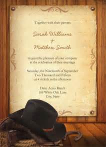 cowboy invitation template 21 western wedding invitation templates free sle