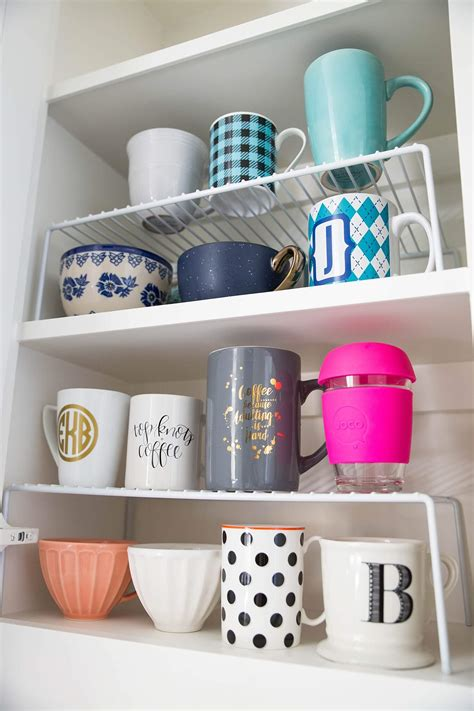 how to organize mugs in cabinet how to organize your kitchen brightontheday