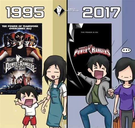 film 2017 humour 1995 vs 2017 powerrangersmovie power rangers movie